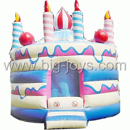 inflatable birthday bouncer,inflatable cake bouncer