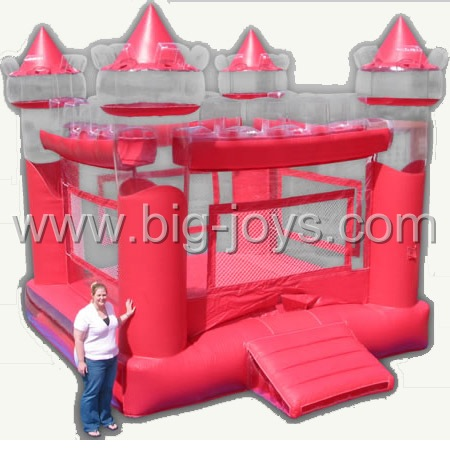 inflatable red bouncer,inflatable bounce jumping castle