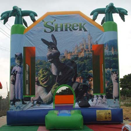 inflatable shrek bouncer,inflatable commercial trampoline