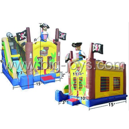 inflatable pirate bouncing slide,inflatable pirate ship bouncy castle