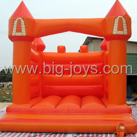 inflatable orange bouncy castle,inflatable simple bouncer for kids