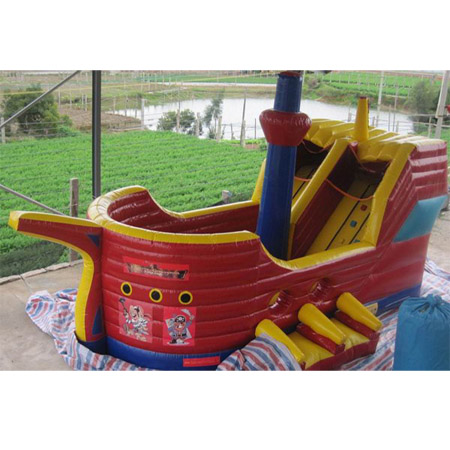 inflatable pirate ship bounce slide,used jumping slide for sale