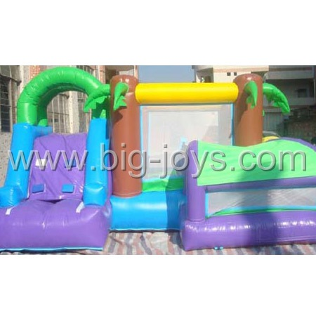 inflatable palmtree bounce slide,inflatable bounce slide for sale