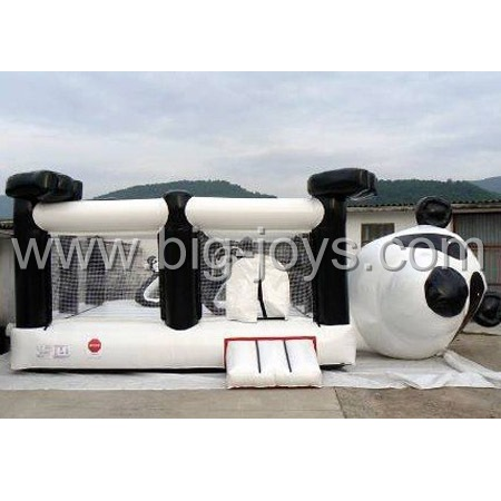 inflatable panda bouncer,inflatable exciting jump bouncer for children
