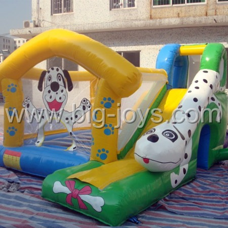 inflatable spot dog bouncer slide,inflatable dog theme bouncer