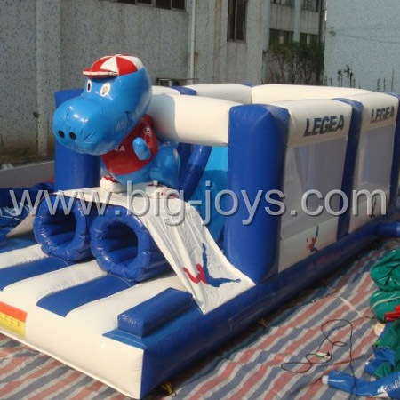 inflatable blue dog theme bouncer,customized inflatable bouncer for sale