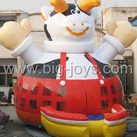 inflatable cow bouncer,large inflatable animal bouncer