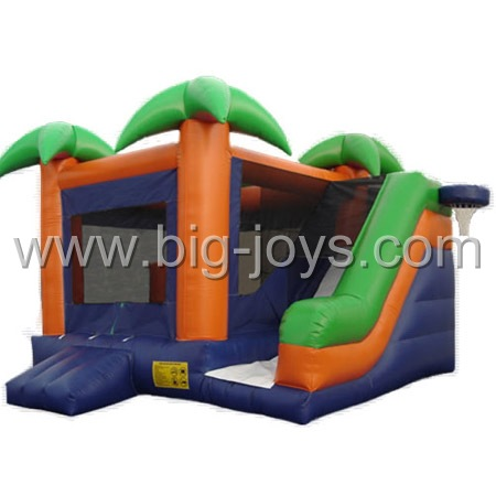 inflatable jungle bounce slide