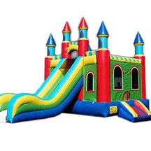 inflatable combo castle slide