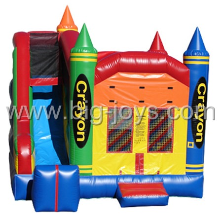 inflatable bouncy house with slide