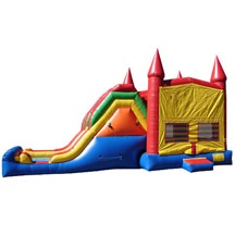 used inflatble bounce house with slide,big inflatable bounce slide combo