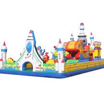 inflatable rocket bounce park,theme park inflatable jumping castle