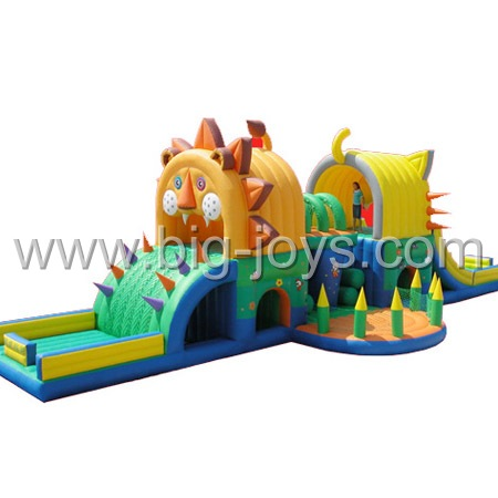 inflatable lion playground,inflatable animal park for children