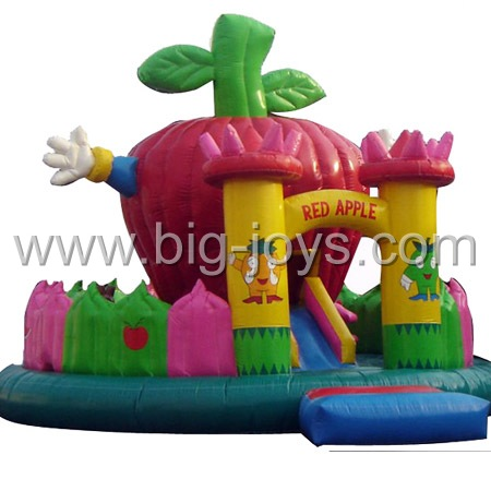 inflatable apple playground,small inflatable jumping castle