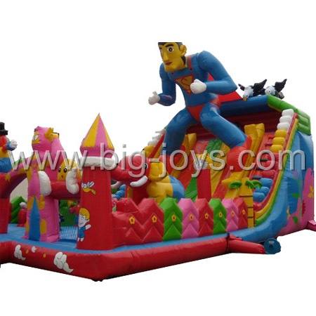 inflatable superman fun park,inflatable jumper park for sale