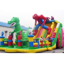 inflatable spiderman bounce park,inflatable theme park trampoline