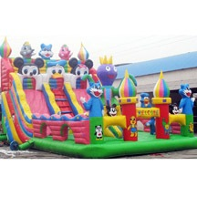 inflatable mickey mouse slide park,inflatable bounce park for sale
