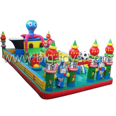 inflatable octopus playground,inflatable large playground for children
