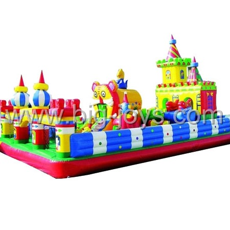 inflatable jungle theme playground,inflatable slide playground for children