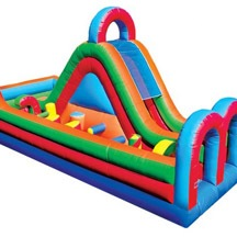 Inflatable Obstacle Game, Inflatable Obstacle With Slide