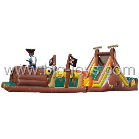 Pirate Obstacle Challenge, Pirate Inflatable, Pirate Theme Inflatable, Challenge Obstacle