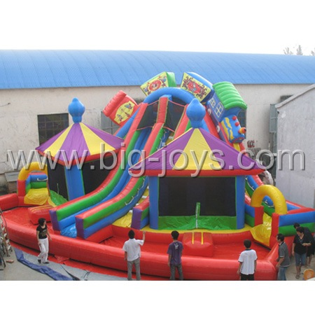 Inflatable train Side, Inflatable Slip and Slide