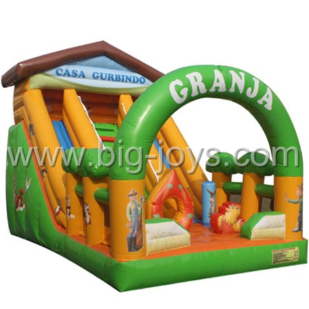Farm theme inflatable slide