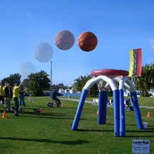 inflatable basketball game,outdoor inflatable game for sale
