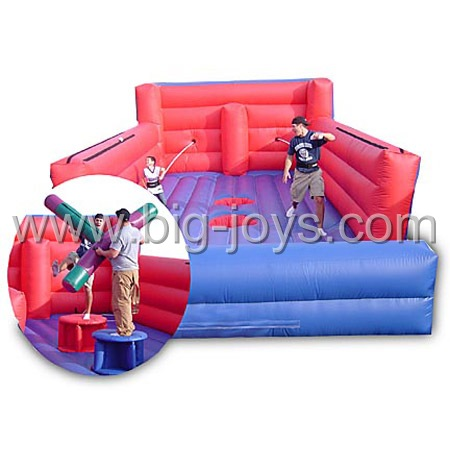 inflatable sport combo,inflatable bungee run and jousting game combo