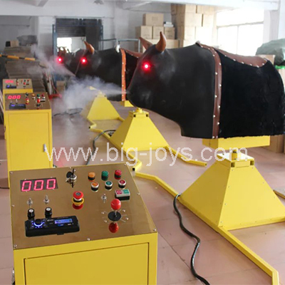 mechanical bull red eyes,inflatable bull ride, amusement rides inflatable bull