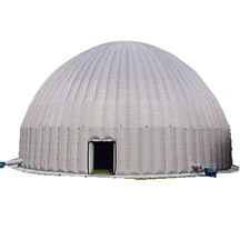 grey inflatable dome