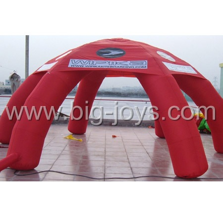 inflatable red advertising tent