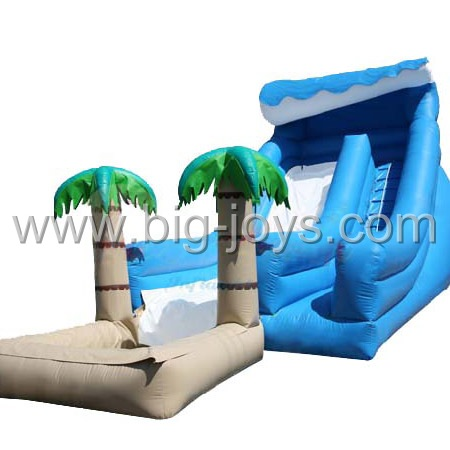 Forest inflatable pool water slide