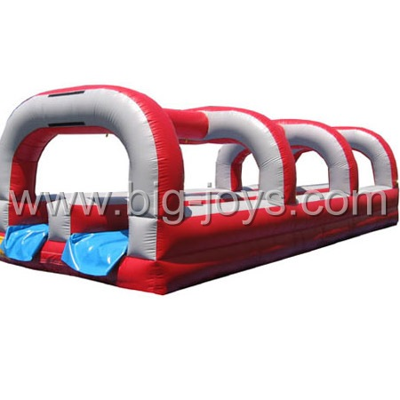 double lanes inflatable water slide