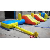 Aqua water obstacle, inflatable water obstacle.