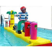 Aqua Pirate Obstacle,Inflatable Pirate Water Obstacle.