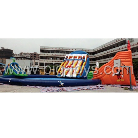 Water slides pool combo, Inflatable Water pool slides.