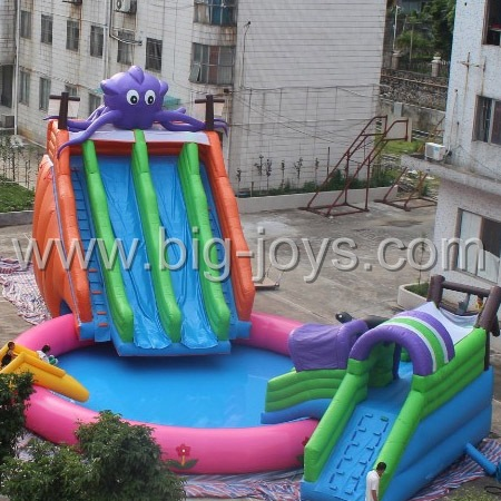 Palmtree Inflatable water park.Inflatable aqua park.