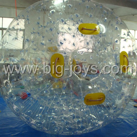 clear inflatable aqua zorbing ball