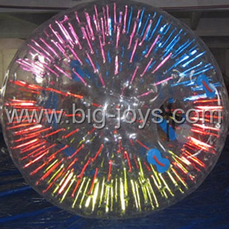 inflatable shinning zorbing ball for kids