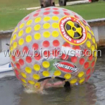 exciting human body zorb, customized aqua zorbing ball price