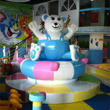 Electric bear,Indoor playground whirling bear
