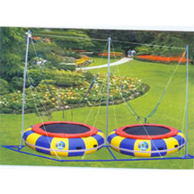 Double Seat Inflatable Bungee Trampoline