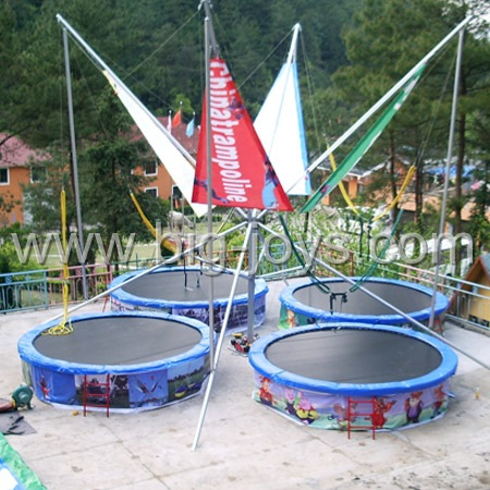 4 persons Round Bungee Trampoline