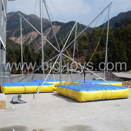 adult inflatable bungee trampoline