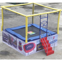 Single person trampoline bed