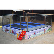 2 in 1 Jumping Trampoline