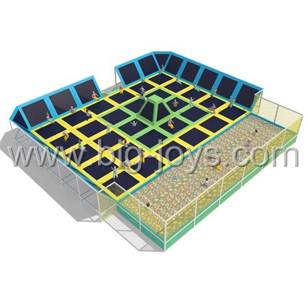 Foam pit trampoline park indoor use