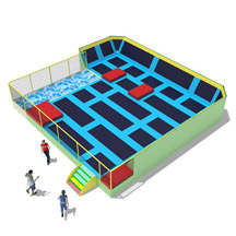 Giant jumping park with foam pit