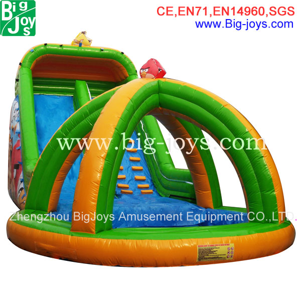 small inflatable water slide for round pool